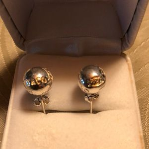 Tiffany and Co post earrings Sterling Silver
